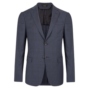 Blue Wool Check Two-Piece Suit