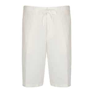 Ecru Linen and Cotton Blend shorts