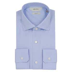 Blue Solid Stretch Cotton Shirt