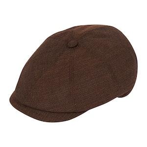 Brown Summer Wool Soft Brim Polly Cap