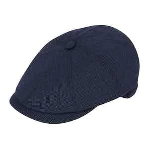 Navy Summer Wool Soft Brim Polly Cap