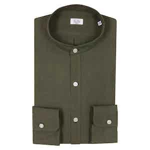 Dark Green Irish Linen Shirt