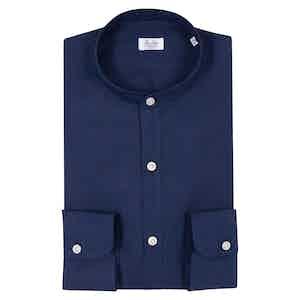 Blue Irish Linen Shirt