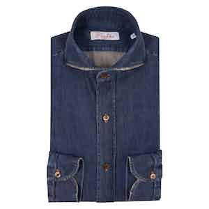 Dark Blue Egyptian Cotton Denim Shirt