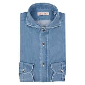 Light Blue Egyptian Cotton Denim Shirt