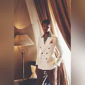 Ivory Irish Linen Double-Breasted Jacket