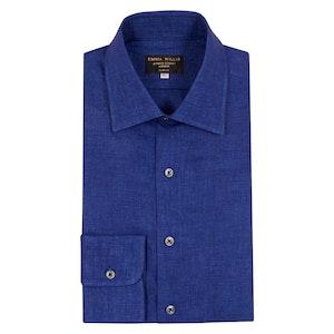 Prussian Blue Linen Shirt