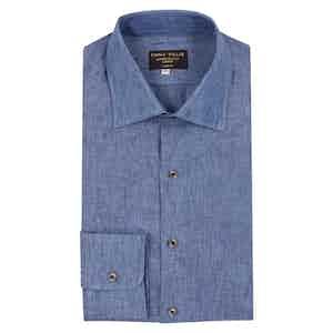 Slate Blue Linen Shirt