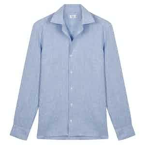 Light Blue Irish Linen Shirt