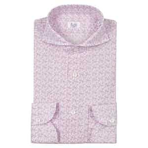 Pink Irish Linen Floral Pinted Shirt