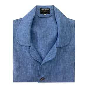 Slate Blue Linen Pyjamas