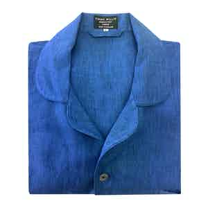 Prussian Blue Linen Pyjamas