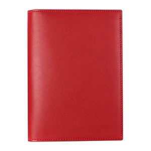 Red Saddle Leather Hanover Passport Case