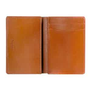Cinnamon Brown Saddle Leather Hanover Folding Card Case