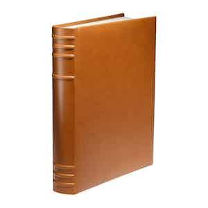 Cinnamon Brown Saddle Leather 12 x 10 Hanover Album