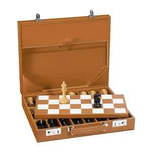 Cinnamon Saddle Leather Hanover Chess Case