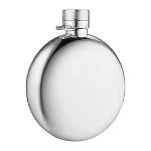 Sterling Silver Classic Round SS 170ml/6oz Hipflask