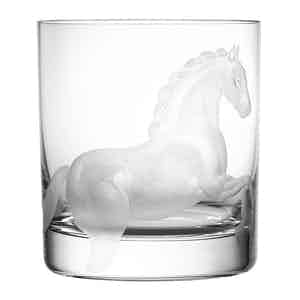 Neutral Lead Free Crystal DOF Horse Clear Tumbler