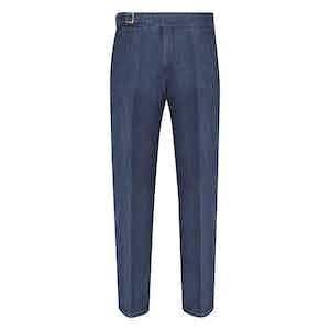 Blue Cotton Denim Genny Jeans