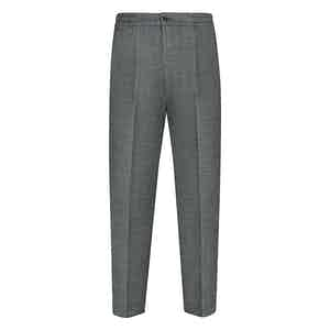 Green Linen Leisure Pants