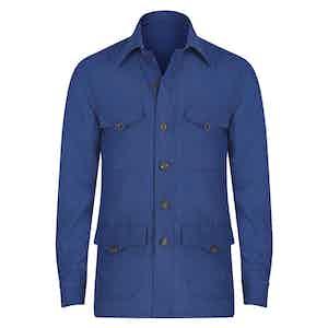 Violet Linen Safari Shirt