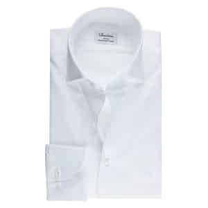 White Textured Two-Fold Cotton Slimline Shirt