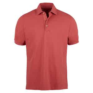 Dusty Rose Pigment-Dyed Polo Shirt