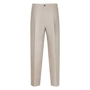Beige Linen Leisure Trousers