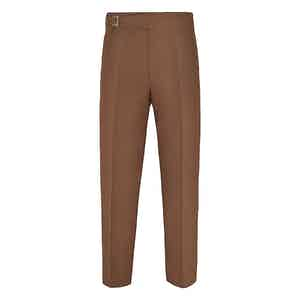 Brown Linen Genny Trousers