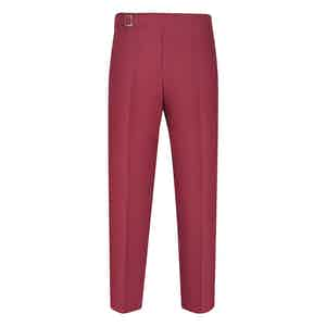 Red Linen Genny Trousers