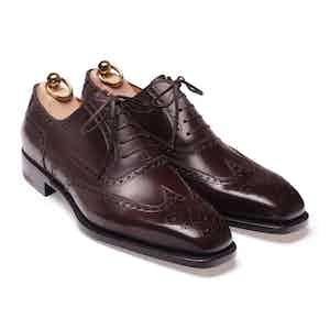 Brown Box Calf Wingtip Shoe