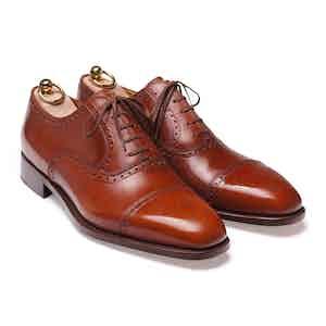Brown Box Calf Cap-Toe Oxford Shoe