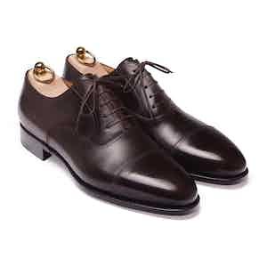 Brown Box Calf Cap-Toe Extended Oxford Shoe