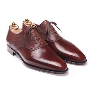 Brown Box Calf & Basketball Saddle Oxford Shoe