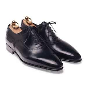 Blue Box Calf Balmoral Oxford Shoe