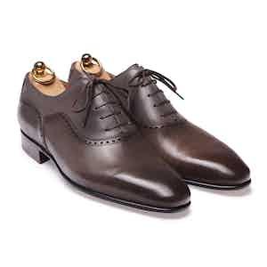 Grey Box Calf Balmoral Oxford Shoe