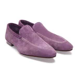 Purple Kudu Reverse Unlined Loafer