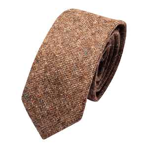 Brown Wool Donegal Classic Tie