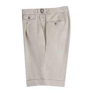 Beige Fine Cotton Shorts