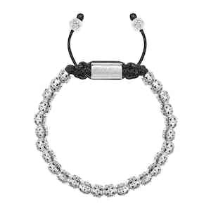 Sterling Silver Cross Beaded Bracelet