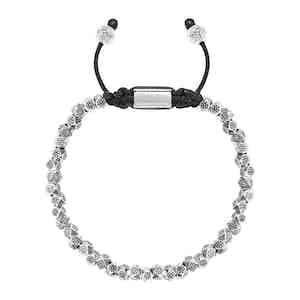 Sterling Silver Faceted Flower Beaded Bracelet