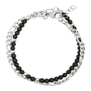 Black Matte Onyx Wrap-Around Bracelet