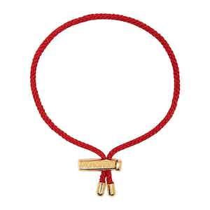 Red Nylon String Bracelet