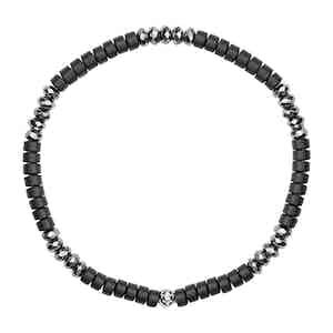 Black Matte Onyx and Hematite Wristband