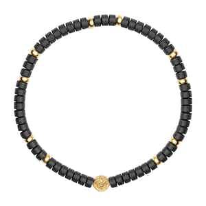 Black Matte Onyx and Gold Wristband