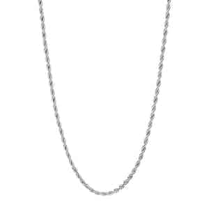 Silver Stainless Steel Rope Chain