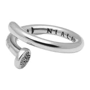 Silver Dorje Engraving Nail Ring