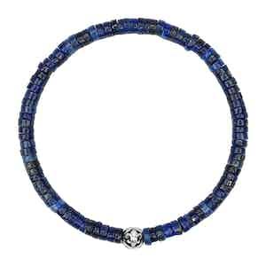 Blue Lapis Heishi Beads Wristband
