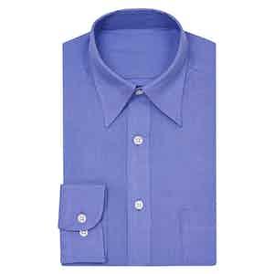 Purple Point Collar Linen Shirt