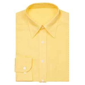 Yellow Point Collar Linen Shirt